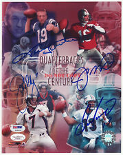 JOHNNY UNITAS JOE MONTANA JOHN ELWAY DAN MARINO SIGNED AUTO 8X10 PHOTO