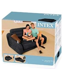 Intex Inflatable 2 Seater Pull Put Sofa Bed - Black.