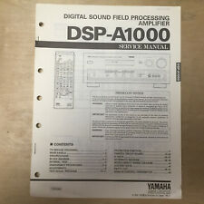 Original Yamaha Service Manual for DSP-A1000 Sound Field Processing Amplifier