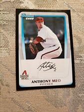 Anthony Meo Arizona Diamondbacks 1st Bowman 2011 Topps Card Ungraded*_*
