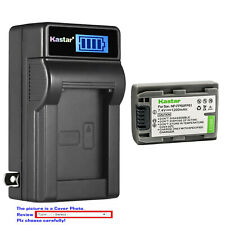 Kastar Battery LCD Wall Charger for Sony NP-FP50 NP-FP51 Sony DCR-DVD403 DVD403