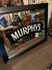 Murphys Stout Bar Mirror 28� W 22� T New