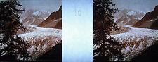 Photographie Chamonix-Mont-Blanc la mer de Glace vue de Montenvers vers 1920