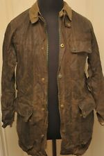 BELSTAFF HEAVY WAX COTTON JACKET DARK OLIVE / BROWN SMALL VINTAGE 1970S