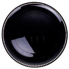 Premier Housewares 33cm Dia Coupe Charger Plate Black Radiance Diamante Edge