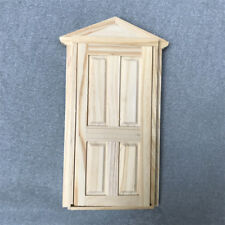 IK- 1:12th External Outward Open Fairy Front Door Doll House Miniature DIY Peach