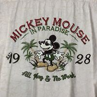 Disney Parks Mickey Mouse in Paradise Hawaiian Shirt Embroidered