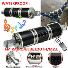 Waterproof Motorcycle Bluetooth Audio Radio Sound System MP3 Stereo Speaker &AUX
