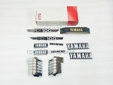 Yamaha RX100 Tank & Side Cover 3D Chrome Emblem Logo Monogram Kit
