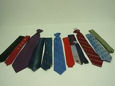 11 VINTAGE MENS NECK TIES ~ ALL EXCELLENT CONDITION ~ 3 CLIP ON ~ 2