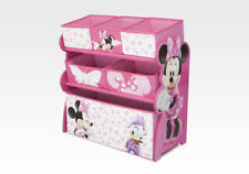 Disney Minnie Mouse Toy Organizer Solid Wood 6 Baskets 24cm High