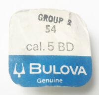 Bulova Original Genuine Group 2 54 CAL 5 BD Complete Balance Wheel Sealed NOS