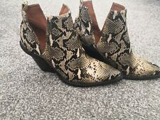 Jeffrey Campbell Free People Snakeskin Cowboy Boots