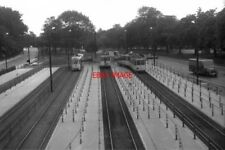 PHOTO  BELGIUM TRAM 1958  BRUXELLES-BRUSSEL STIB AV. MEISE TERMINUS WITH PCC AND