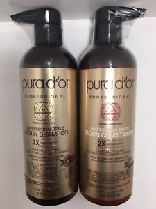 PURA D'OR Biotin Anti-Hair Thinning Shampoo & Conditioner Set 2X Concentrated!!