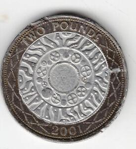 GB £2 2001 LEAD TOKEN            25P       BY COINMOUNTAIN