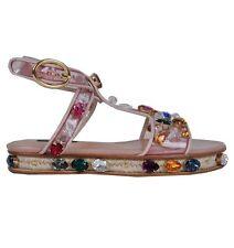 Damen-Sandalen & -Badeschuhe mit Blockabsatz im Knöchel-/Fesselriemen-Stil aus Echtleder ohne Muster