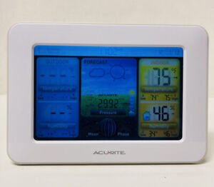 AcuRite Color Weather Station Forecaster with Temperature, Humidity 02038W White