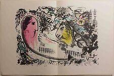 Marc Chagall Derriere Le Mirroir no 182 - Original Chagall Lithograph