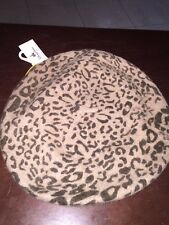 NEW WT Scala Pronto Wool Blend Women's Tan/Brown Beret/ Hat One Size