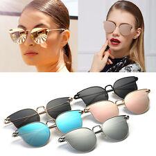 Calidad de Moda para Mujer Lentes Espejados Gafas de sol Ojo de Gato de Oro Rosa Diseñador