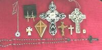 Lot of 10 Religious/Cross Pieces.