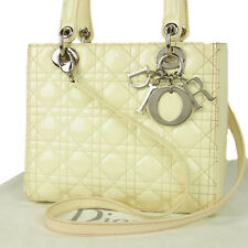 Auth Christian Dior Lady Dior Cannage Leather 2WAY Shoulder Hand Bag 12606bkac