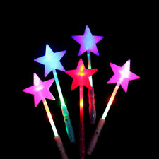 Random Light-Up Bright Shining Star Wand Princess LED Rave Toy Stick Flashing