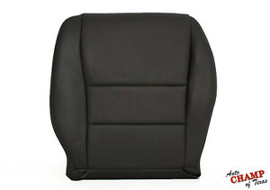 2003-2007 Honda Accord 4DR EX SE LX -Driver Side Bottom Leather Seat Cover Black