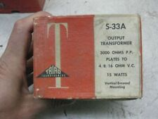 1  UTC triad S33A  audio output  NOS for western electric 300B or RCA 2A3 PP