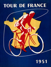"""1951 Tour De France Poster Vintage Bicycle Poster Cycling Poster 24"""" x 36"""""""
