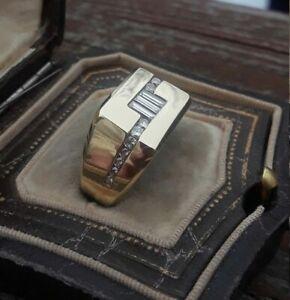 SOLITAIRE ENGAGEMENT MEN'S BEZEL SET RING 14K YELLOW GOLD FILLED 2.3 CT SAPPHIRE