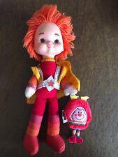 """1983 Hallmark Mattel Rainbow Bright Brite doll Vintage 11"""" Red Butler + Sprint"""