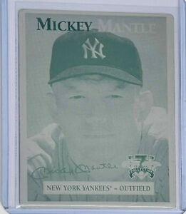 1 OF 1 MICKEY MANTLE 1997 SCORE BOARD PRINTING PLATE NY NEW YORK YANKEES 1/1