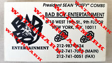 """1994 Vintage Rare Sean """"Puffy"""" Combs First/Self-Printed Business Card"""