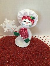 """Annalee Chritmas 5"""" 2015 Peppermint Chef Snowman NWT and Free Shipping"""