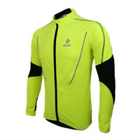 Arsuxeo Men's Winter Cycling Jacket MTB Bike Thermal Fleece Jersey Sports Coat