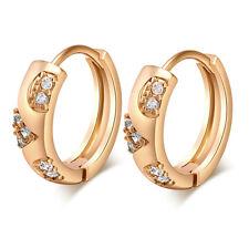 K9 Gold plated Hoop Earrings for women CZ Stone Earring