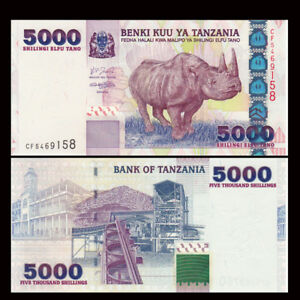 Tanzania 5000 Shillings, ND(2003), P-38, UNC
