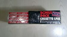 Vintage Rare Bonus Pack BASF LH Extra I 90 Сassette Tape 4-pack + BASF Logo Case