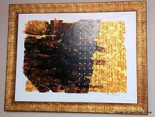 """Modern Abstract Art, acrylic on canvas, by Sophon, """"Golden-Bronze"""""""
