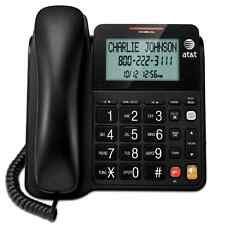 New Black Landline Phone corded home office desk wall telephone large display .
