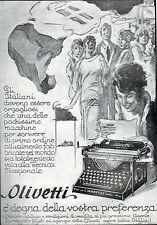 PUBBLIC.1928 MACCHINA DA SCRIVERE OLIVETTI M20 TECNICA NAZIONE BANDIERA DALMONTE