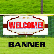 Welcome Banner Sign Business Advertising Commercial Residential Indoor Outdoor