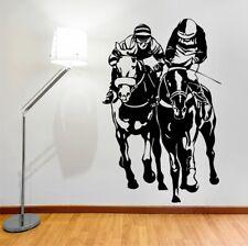HORSE RACING wall stickers bedroom living room den vinyl wall decals