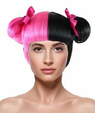 Adult Pink Black Wig Two Double Buns for Cosplay Melanie Martinez Hair HW-1076A