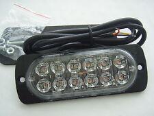 12v 24v AMBER RECOVERY STROBE LIGHT 12 CREE LED ORANGE GRILL BREAKDOWN FLASHING