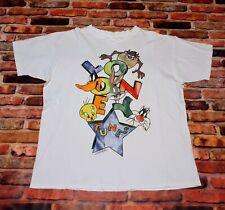 Vintage 1994 Looney Tunes Star T-Shirt White Size XL Boxy Bugs Sun Sportswear