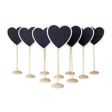 10pcs Heart Blackboard Stands Wedding Table Number Party Lolly Buffet Chalkboard