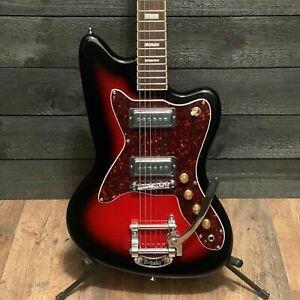 Silvertone 1478 Solid Body Red Sunburst Electric Guitar
